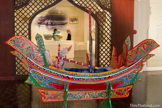 model of traditional boat in Narathiwat City Museum