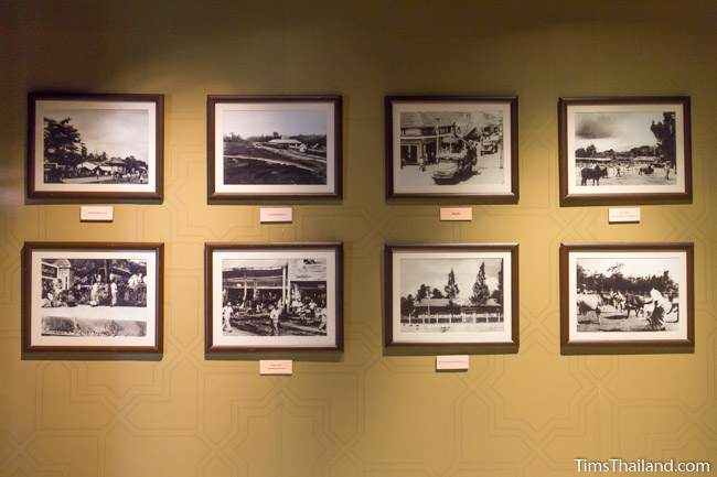 framed photos in Narathiwat City Museum