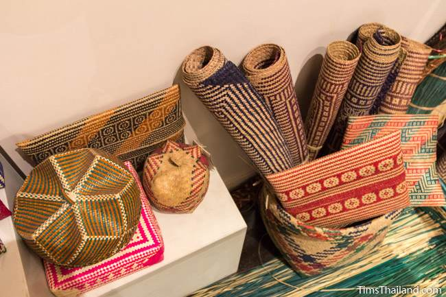 woven handicrafts in Narathiwat City Museum