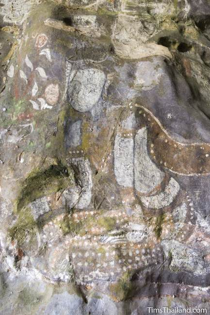 painting of woman at Tham Sam cave