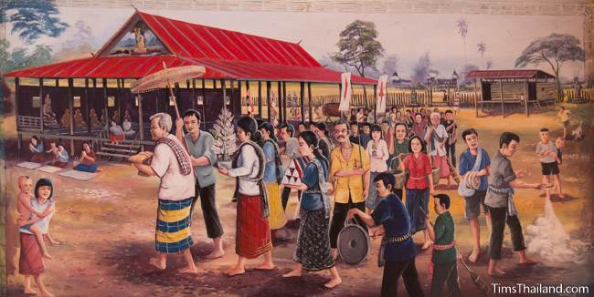 mural of Boon Kathin tradition