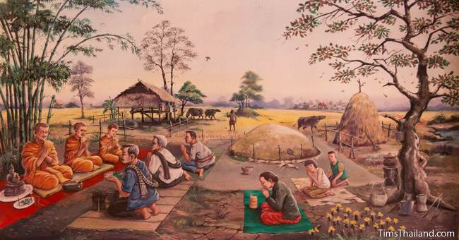 mural of Boon Khun Lan tradition