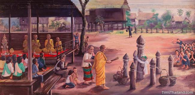 mural of Boon Samha tradition