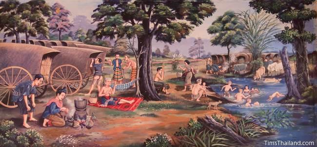 mural of caravan camp