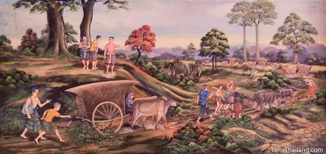 mural of caravan maha sarakham