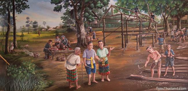 mural of Ban Non Mueang village
