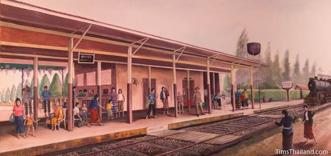 mural of Khon Kaen train station