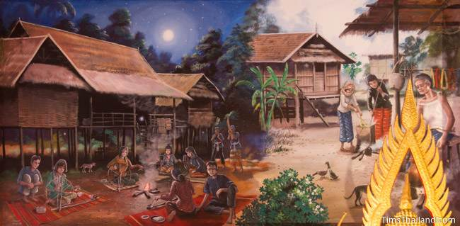 mural of long kuang and long khaek activities