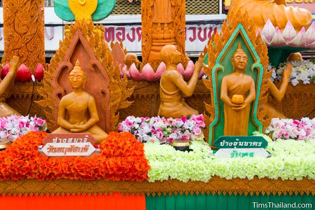 two Buddhas on Khao Phansa candle parade float