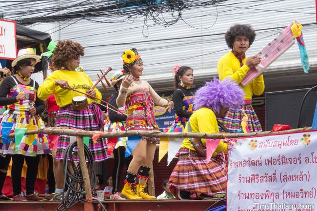 band playing music in Khao Phansa candle parade