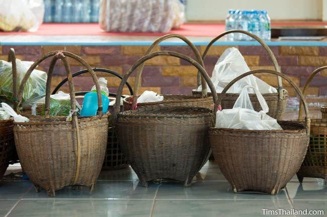 rattan food baskets