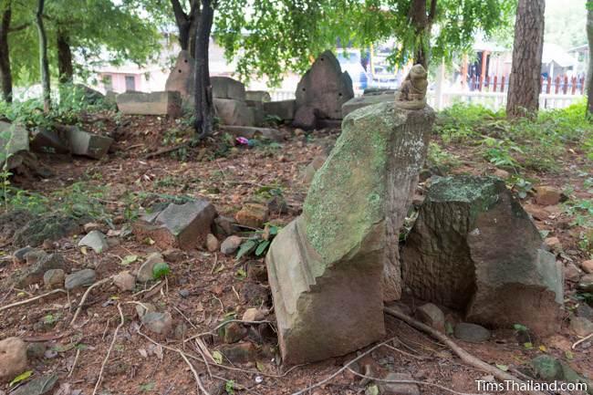sandstone blocks at Prang Ban Prang Khmer ruin