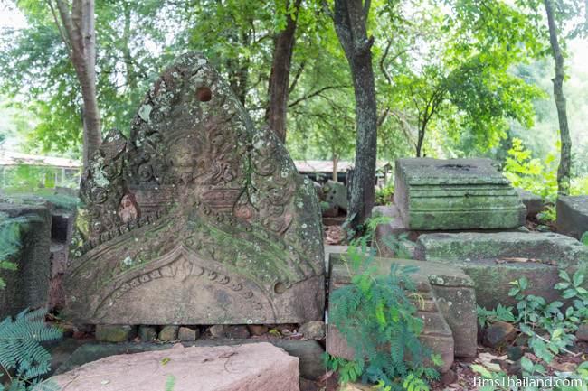 piece of pediment at Prang Ban Prang Khmer ruin