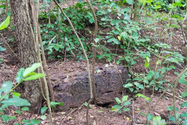 laterite block at Prasat Nong Phak Rai Khmer ruin