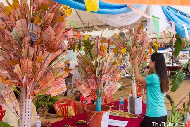 money trees for Kathin celebration