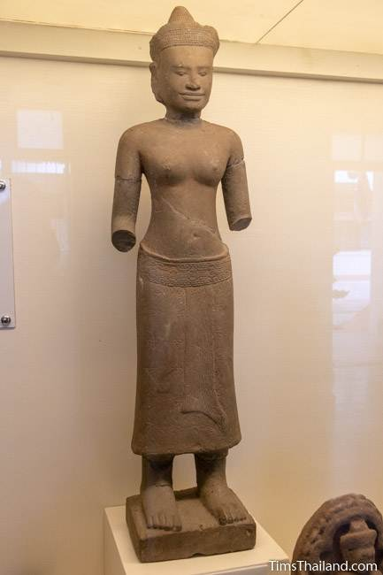 handless devi statue from Phanom Rung Khmer ruin at Maha Viravong National Museum