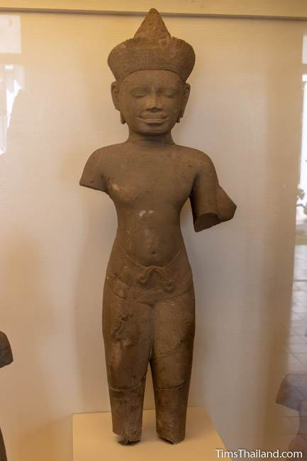 armless vishnu statue from Phanom Rung Khmer ruin at Maha Viravong National Museum