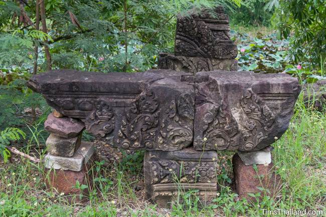 part of a pediment at Prang Phakho Khmer ruin