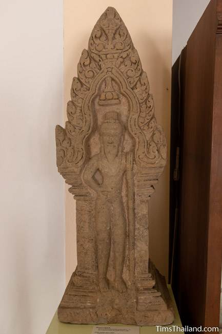 rishi antefix from Prang Phakho Khmer ruin at Maha Viravong National Museum