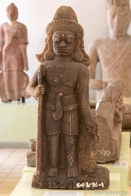 yaksha statue from Prasat Hin Nong Ku Khmer ruin at Maha Viravong National Museum