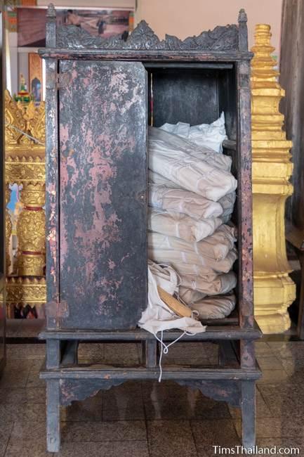 cabinet for holding palm-leaf manuscripts