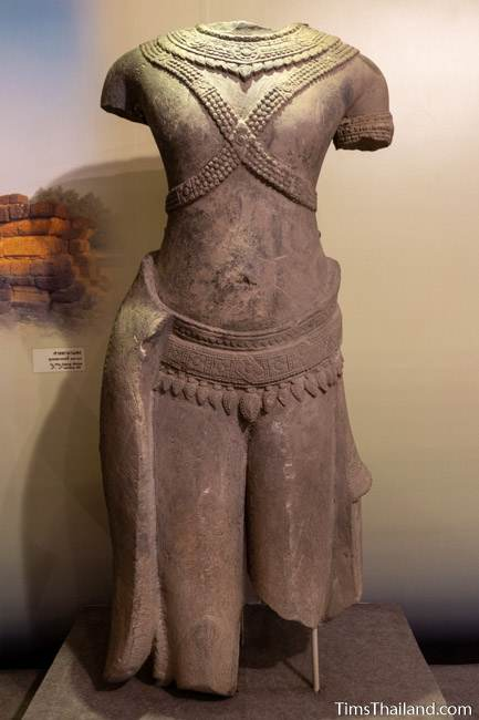 headless and limbless deity stone carved statue