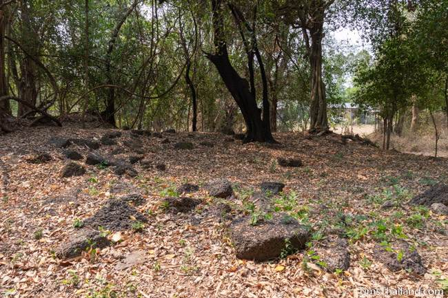 scattered laterite blocks