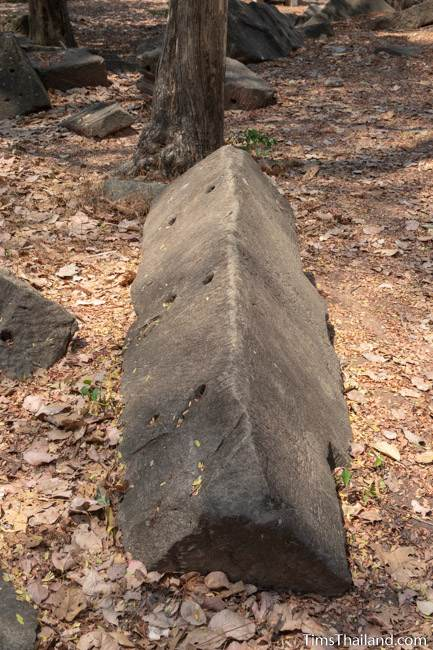 long sandstone block