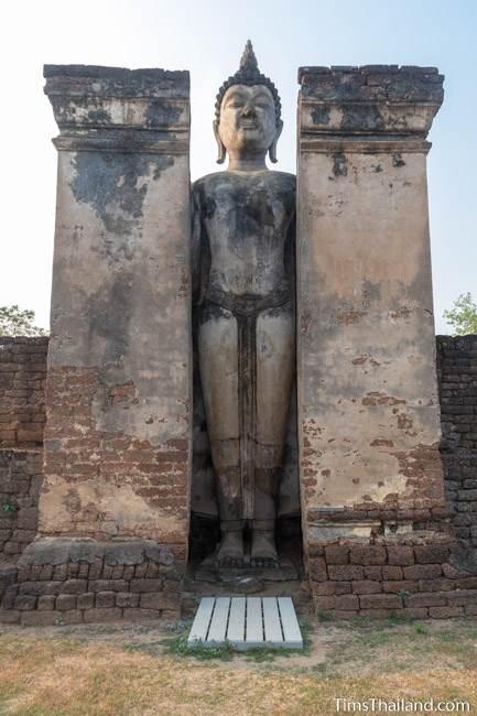 standing Buddha inside mondap