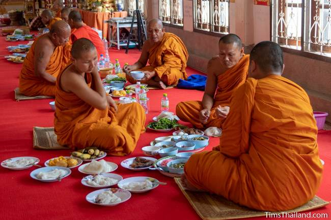 monks eating