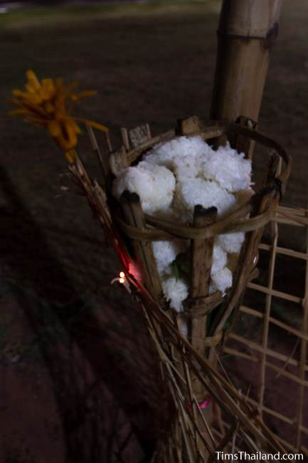 basket with sticky rice balls