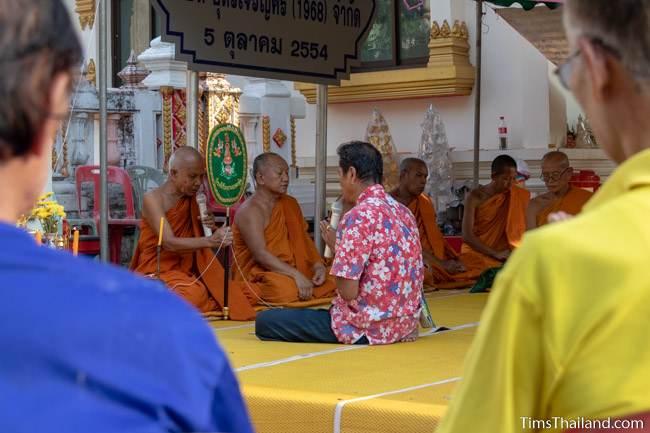 monks leading ceremony