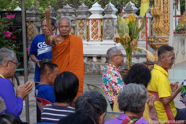 monk blessing people
