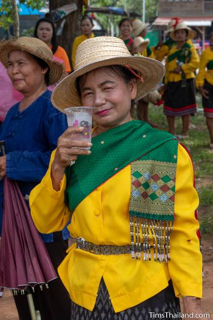 woman in Thai traditional dress