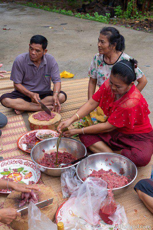 people making beef goy