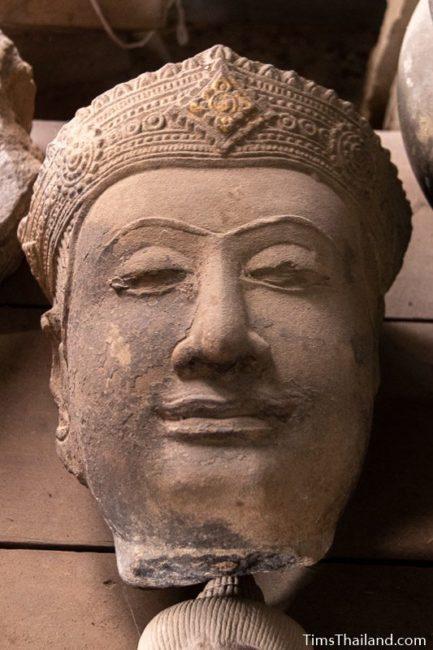 Khmer Buddha head