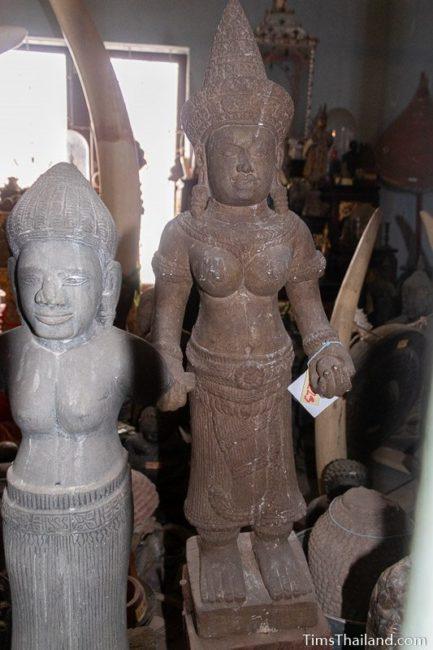 Khmer goddess statue