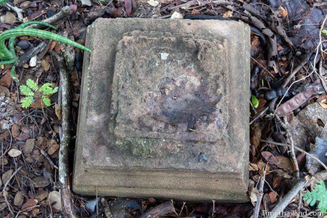 broken Khmer pedestal