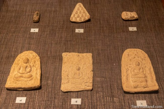 six small votive tablets