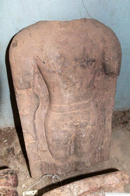 broken male Khmer figure