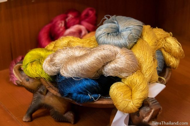 bundles of silk thread