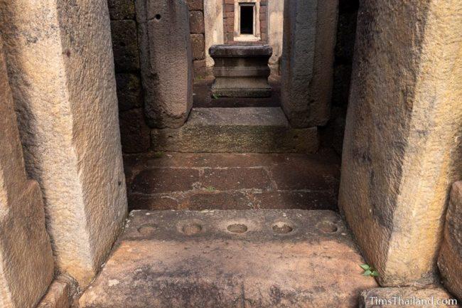 view through gopura doors