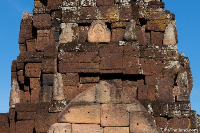 pediment and antefixes including Vishnu