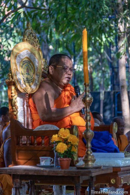 monk giving a sermon