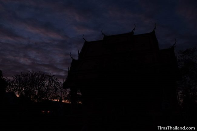 sunrise behind ubosot