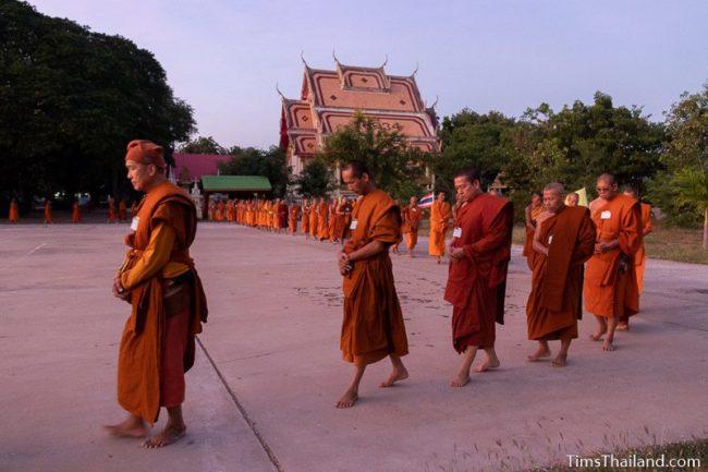 monks doing walking meditation