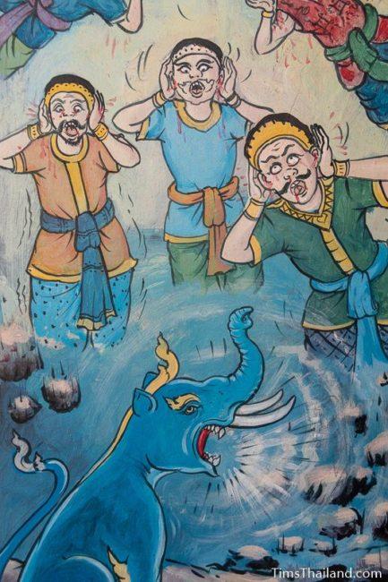 painting of kochasi screaming
