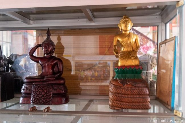 two monk statues