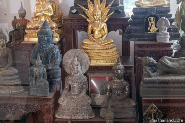 lots of monk statues