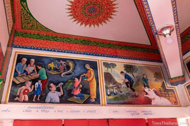 mural paintings on wall